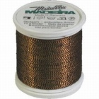 Madeira Twisted Metallic 200m Thread - 425 Black/Gold