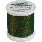 Madeira Twisted Metallic 200m Thread - 490 Green/Blue/Copper/Gold