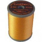 Brother satin finish embroidery thread. 300m spool DEEP GOLD 214