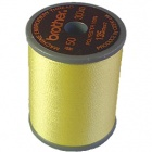 Brother satin finish embroidery thread. 300m spool LEMON YELLOW 202