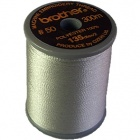 Brother satin finish embroidery thread. 300m spool SILVER 005