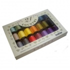 Brother Country Matt Finish Embroidery Threads Box of 21 Threads