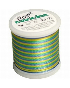 Madeira Multi Rayon Thread 200m - 2146 Blue/ Green/ Yellow