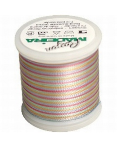 Madeira Multi Rayon Thread 200m - 2141 Peach/ Blue/ Rust/