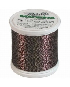 Madeira Twisted Metallic 200m Thread - 426 Penny Copper/Black
