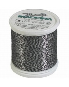 Madeira Twisted Metallic 200m Thread - 442 Silver/Black