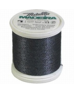 Madeira Twisted Metallic 200m Thread - 460 Black/Blue