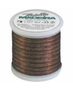 Madeira Twisted Metallic 200m Thread - 482 Gold/Copper/Black