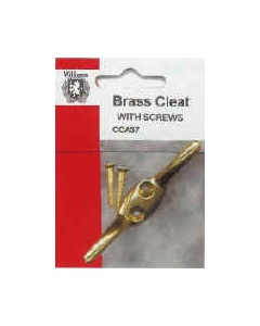 Brass Curtain Hold Back Cleat With Screws