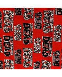The Walking Dead Logo Fabric