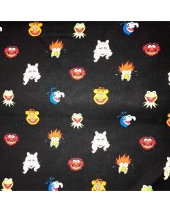 The Muppets Friends - Kermit, Miss Piggy, Fozzie Bear, Gonzo, Animal and Beaker Fabric