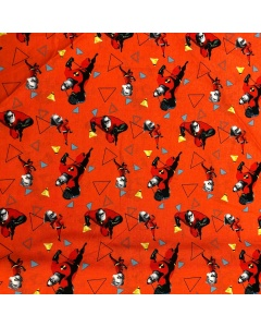 Disney's Mr Incredible and Dash Action Shot Fabric