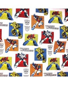 Disney's Multi Coloured Generations Classic Transformers Character Fabric