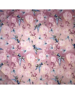 Disney's Blue Tinkerbell Fabric