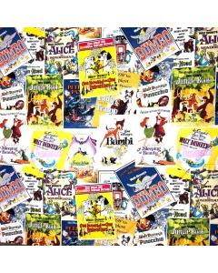 Disney Magazine print fabric