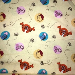 Winnie the Pooh and Friends Brushed Cotton Fabric