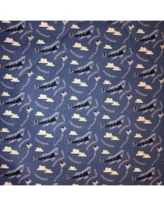 Aeroplane's in the Clouds Fabric