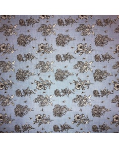 Light Blue Herbs Fabric