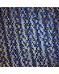 Royal Blue and Gold Aztec Pattern Fabric