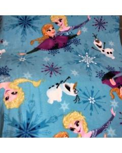 Disneys Blue Frozen Anna and Elsa Fleece