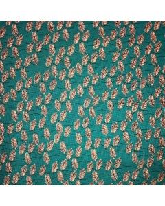 Turquoise Dandelion Quilting Fabric