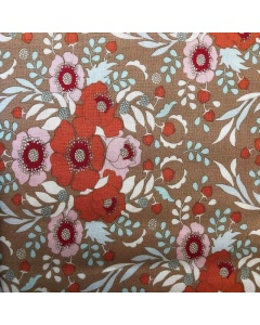 Orange and Pink Floral Fabric