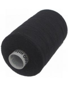 Moon Polyester Overlocking Thread 1000yds Black