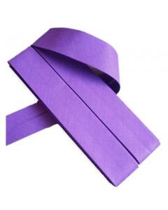 20 mm Purple Bias Binding Tape Fine Polycotton Weave 3.5M Card