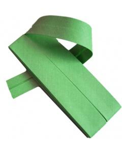 20 mm Grass Green Bias Binding Tape Fine Polycotton Weave 3.5M Card
