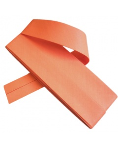 20 mm Orange Bias Binding Tape Fine Polycotton Weave 3.5M Card