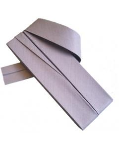 20 mm Grey Bias Binding Tape Fine Polycotton Weave 3.5M Card