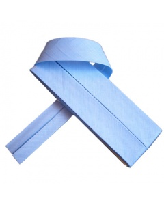 20 mm Light Blue Bias Binding Tape Fine Polycotton Weave 3.5M Card