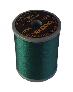 Brother satin finish embroidery thread. 300m spool DEEP GREEN 808