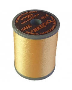 Brother satin finish embroidery thread. 300m spool CREAM YELLOW 812