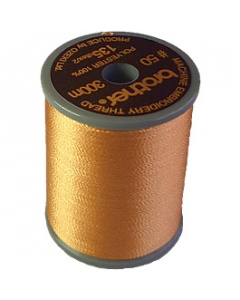 Brother satin finish embroidery thread. 300m spool REDDISH BROWN 337