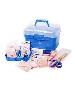 Deluxe sewing kit in sewing box