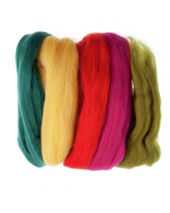 Bright Colour roving wool