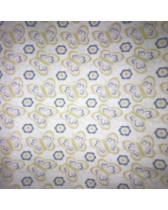 Baby Blue and Green Butterfly Fabric