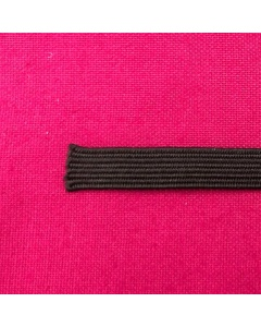 hemline premium quality black 6mm elastic