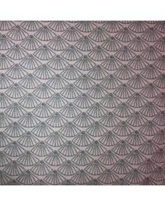 Blue Fan Pattern Fabric