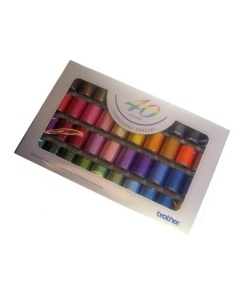 Brother Satin Finish Embroidery Thread Set 40 Spools