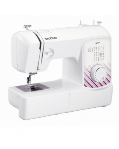 Brother LX-17 - Light and very easy to us. Not many (if any) machines at this price have a top drop in bobbin...!