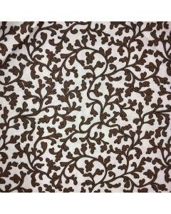 Brown Leaf Swirl Fabric