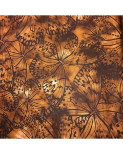 Burnt Caramel Butterfly Fabric