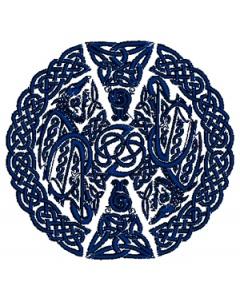 Celtic Dragon Embroidery Design