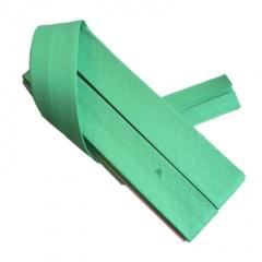 12mm Green Bias Binding Fine Polycoton Weave 3.5M Card