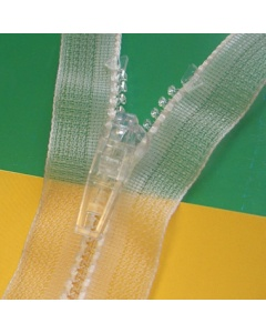 Transparant Zips for Garments