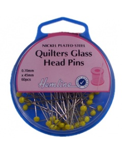 Long Quilting Pins with Glass Head