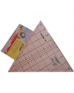QUILTING RULER 60 DEGREE TRIANGLE 8 X 9-1/4 INCH