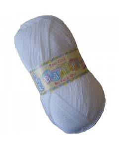 King Cole 4 ply 100g Baby Wool White